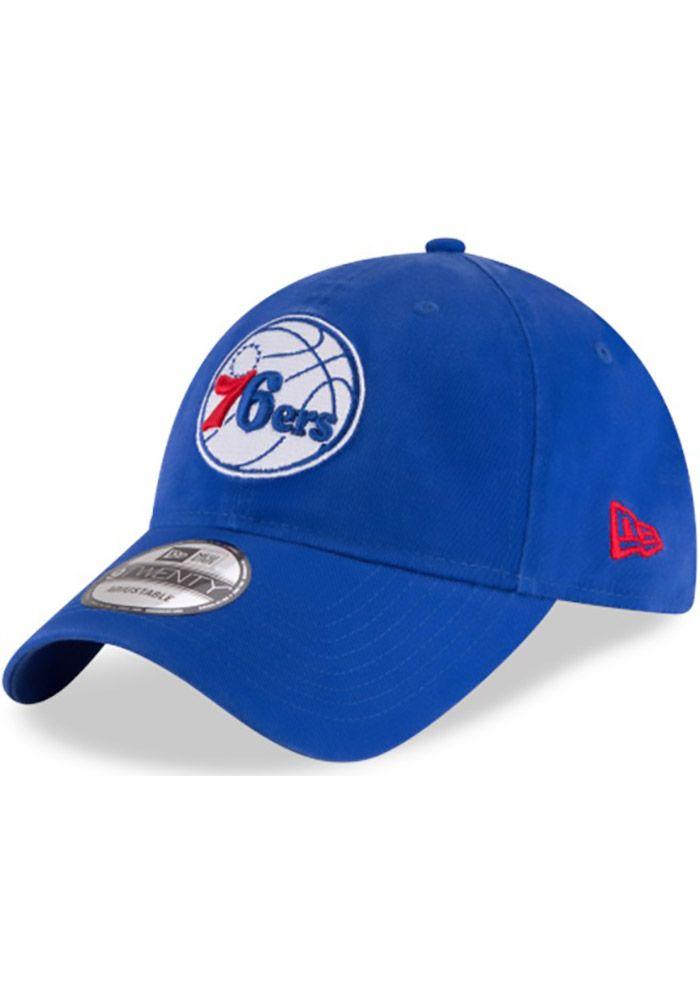 separation shoes a8f1c 75573 New Era Philadelphia 76ers Mens Blue Core Classic 9TWENTY Adjustable Hat,  Blue, 100% COTTON, Size ADJ