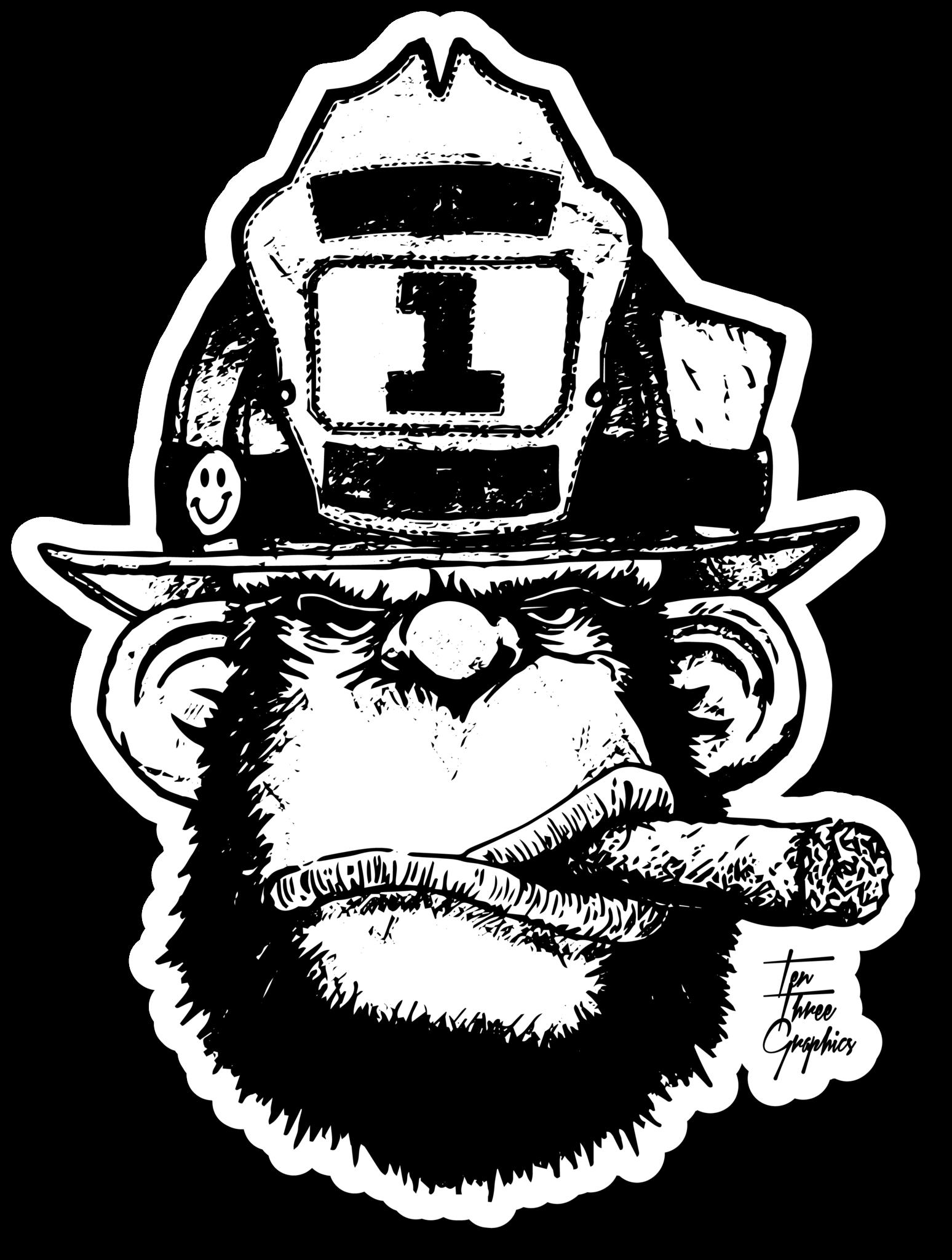 Vintage Firefighter Designs Set Firefighter, Fire