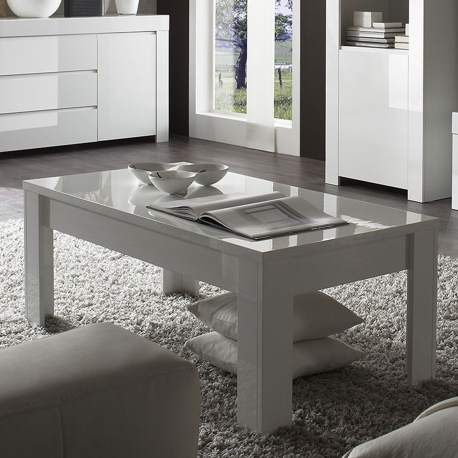 Table Basse Blanc Laque Design Tory Table Basse Table Basse Relevable Furniture Table Et Contemporary Coffee Table