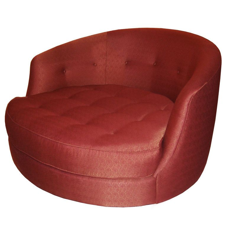 Lovely Large Tufted Swivel Lounge Chair By Milo Baughman United States 1970u0027s A  Large Tufted Swivel Lounge