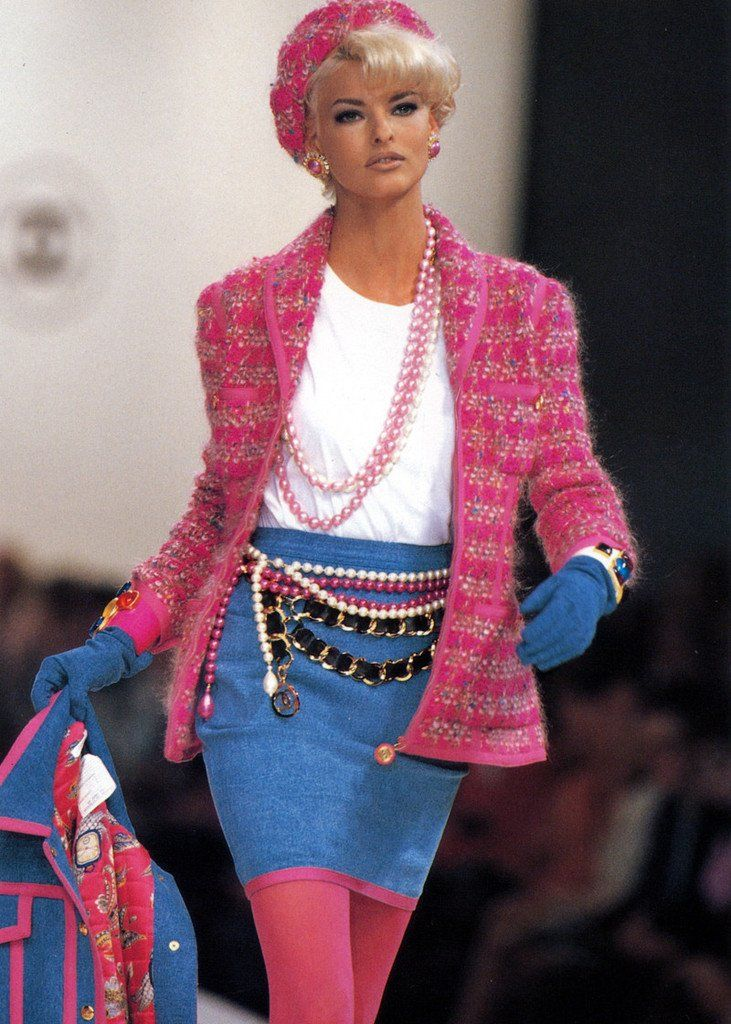 506092f85838 Vintage CHANEL Denim Skirt | Vintage CHANEL CLOTHING & ACCESSORIES ...