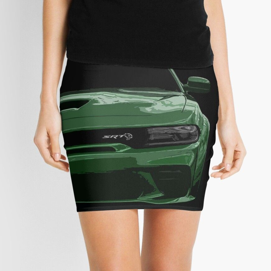 Get My Art Printed On Awesome Products Support Me At Redbubble Rbandme Http Www Redbubble Com People Green Mini Skirt Dodge Charger Hellcat Dodge Charger