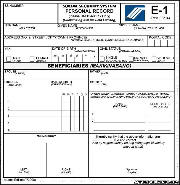 Social Security Form Government Forms Pinterest Social security - social security application form