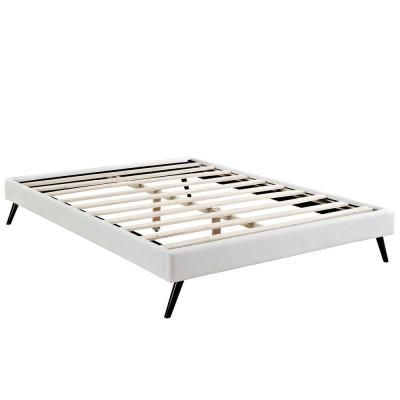 Modway Loryn White Queen Bed Frame With Round Splayed Legs White