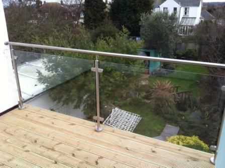 Wooden Decking And Smart Stainless Rails With Glass · Garage ExtensionFlat  RoofDeckingPatio ...
