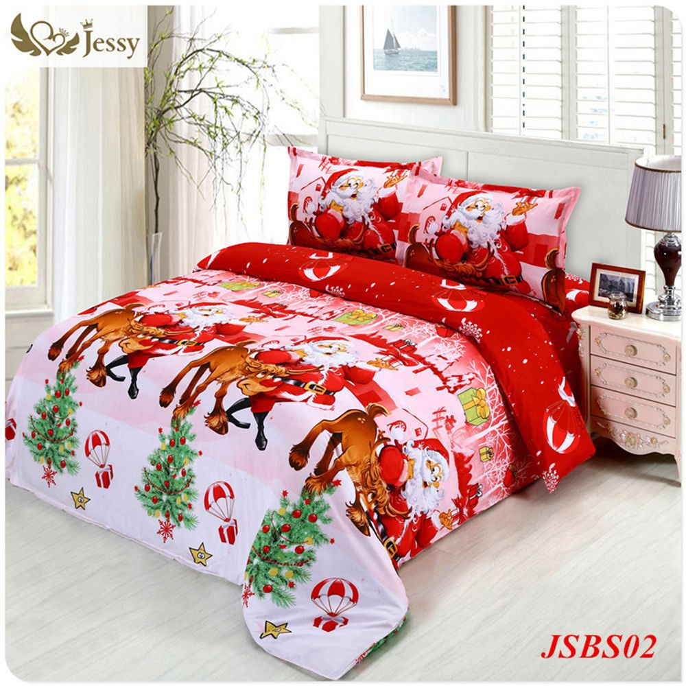 Good Christmas Bed Linen Sets Part - 12: Jessy Home Christmas Merry Kids Duvet/comforter Cover Twin/queen Size Santa  Claus Deer Bed Set Bed Linen Bedclothes