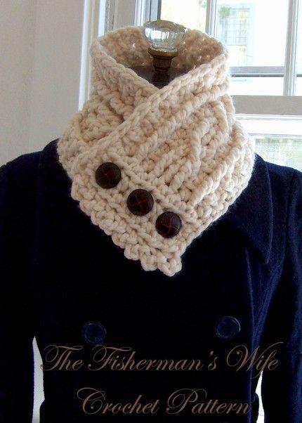 Fisherman\'s wife pattern. looks so cozy!   crochet   Pinterest ...