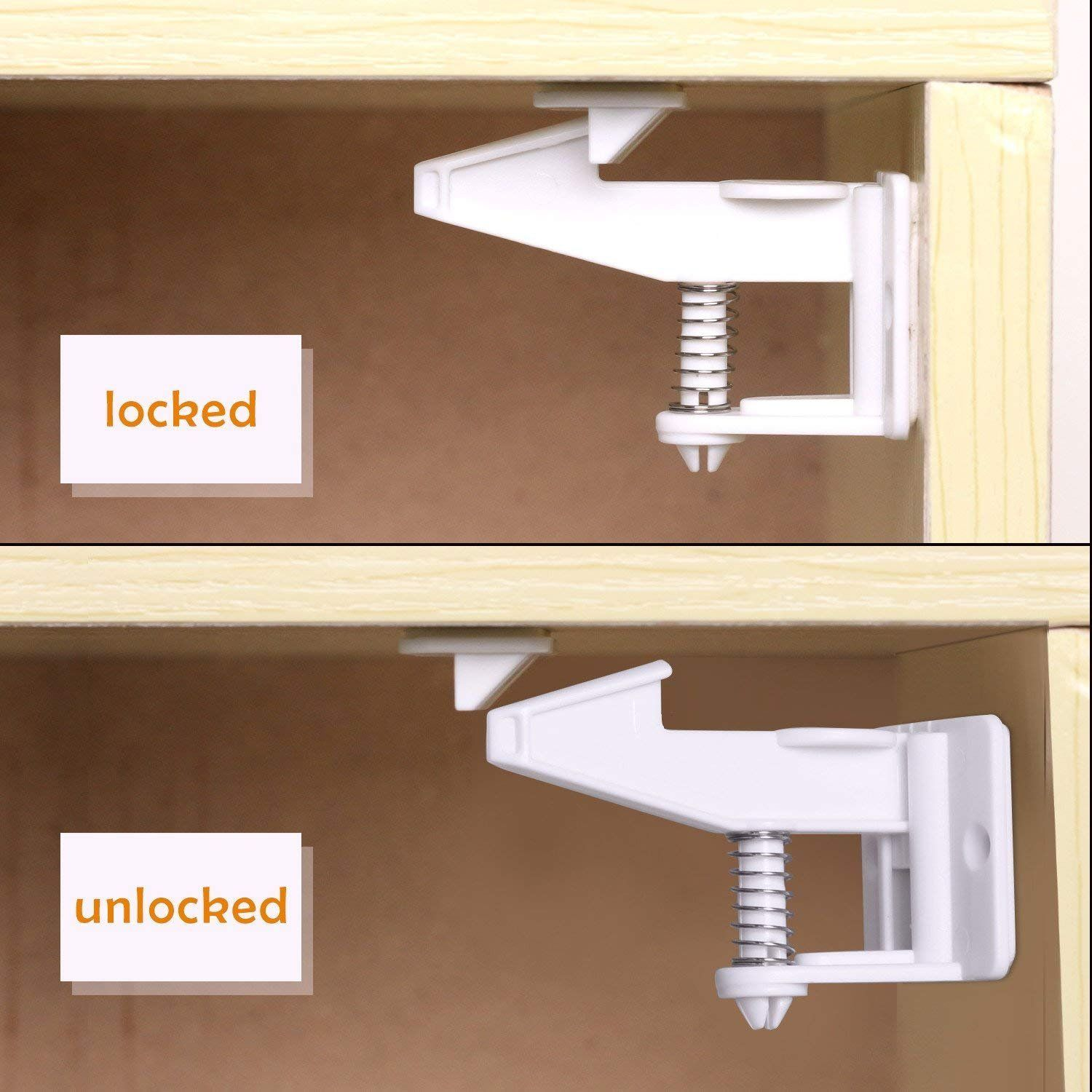 Baby Child Pet Proof Cabinet Door Safety Kitchen 10 X Magnetic Cupboard Locks UK