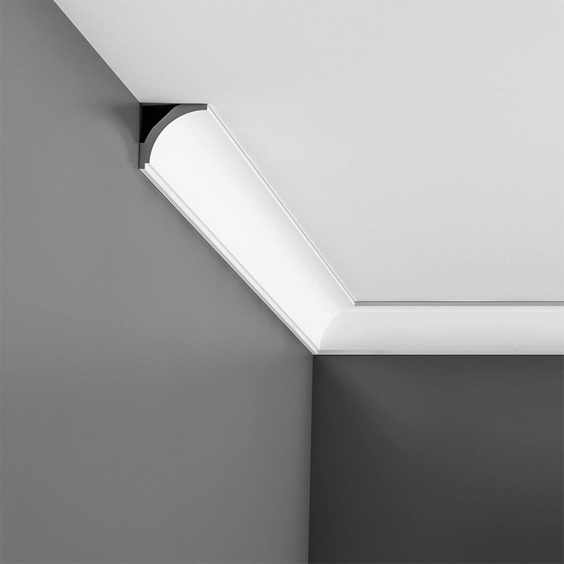 """Best of CX109F Flexible Crown Moulding Primed White Face 2 1 2"""" Contemporary - Model Of white crown molding Minimalist"""