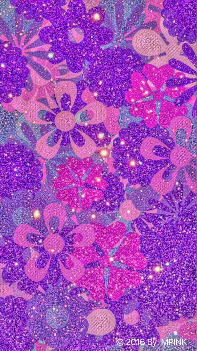 Flower Glitter Wallpaper Glitter wallpaper, Sparkle