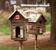 Оригинальный домик для птиц своими руками » Самоделки