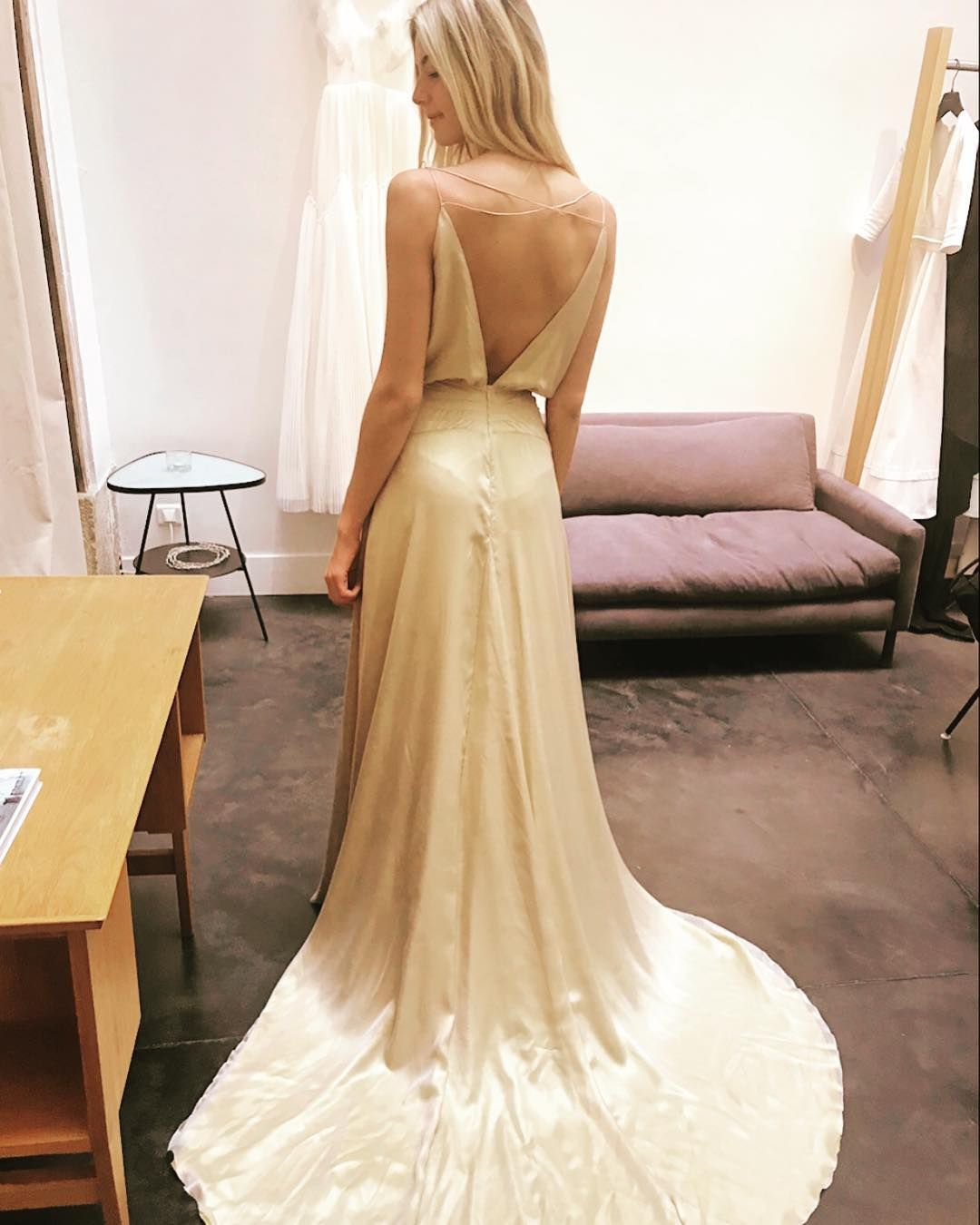 Delphine Manivet On Instagram New Collection Lazlo Dress Delphinemanivet Gold Weddingdress Wedding Dresses Dresses Backless Dress [ 1350 x 1080 Pixel ]