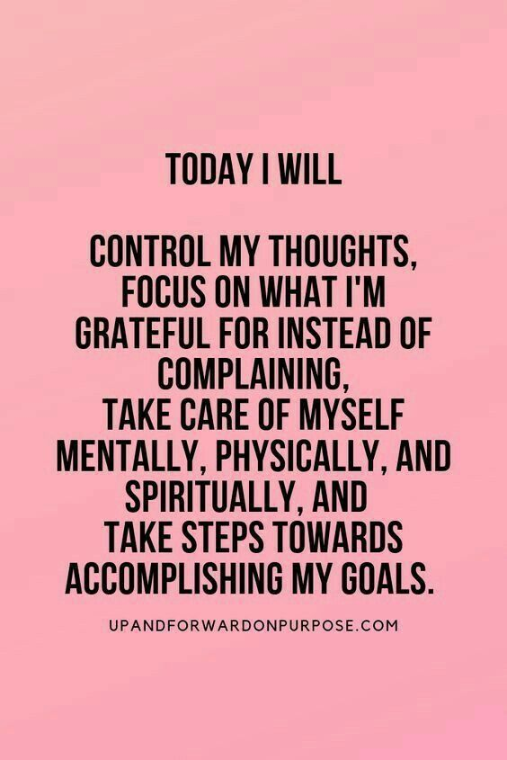 Focus on what I'm grateful for.