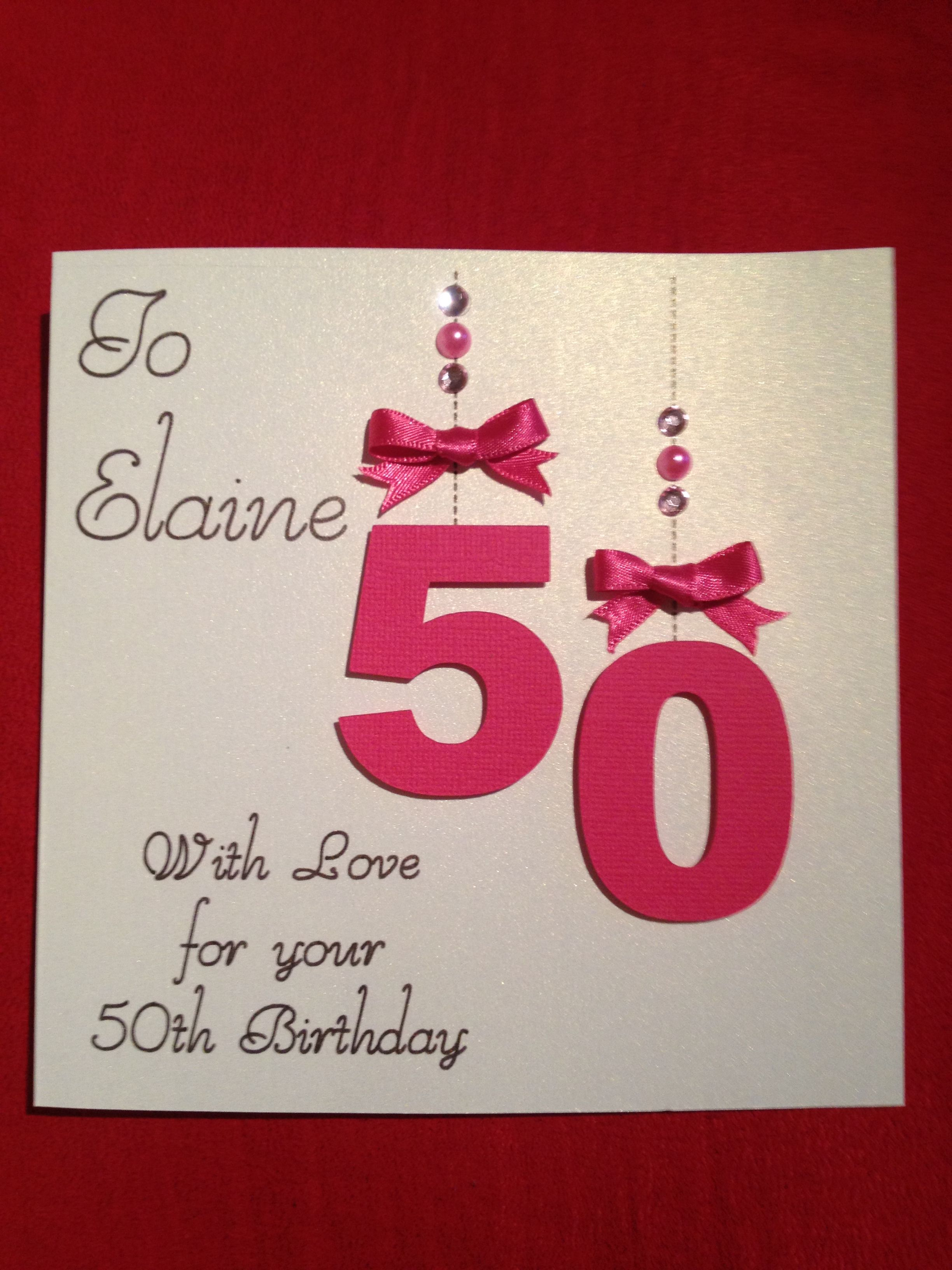 50th birthday card inspired by a card I saw on Etsy. 50 cut from ...