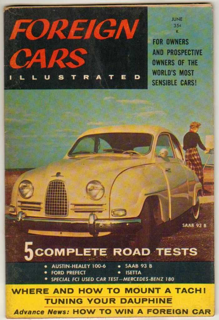 Foreign Cars Illustrated June 1958 Vol 1 #3 Classic Old Vintage ...