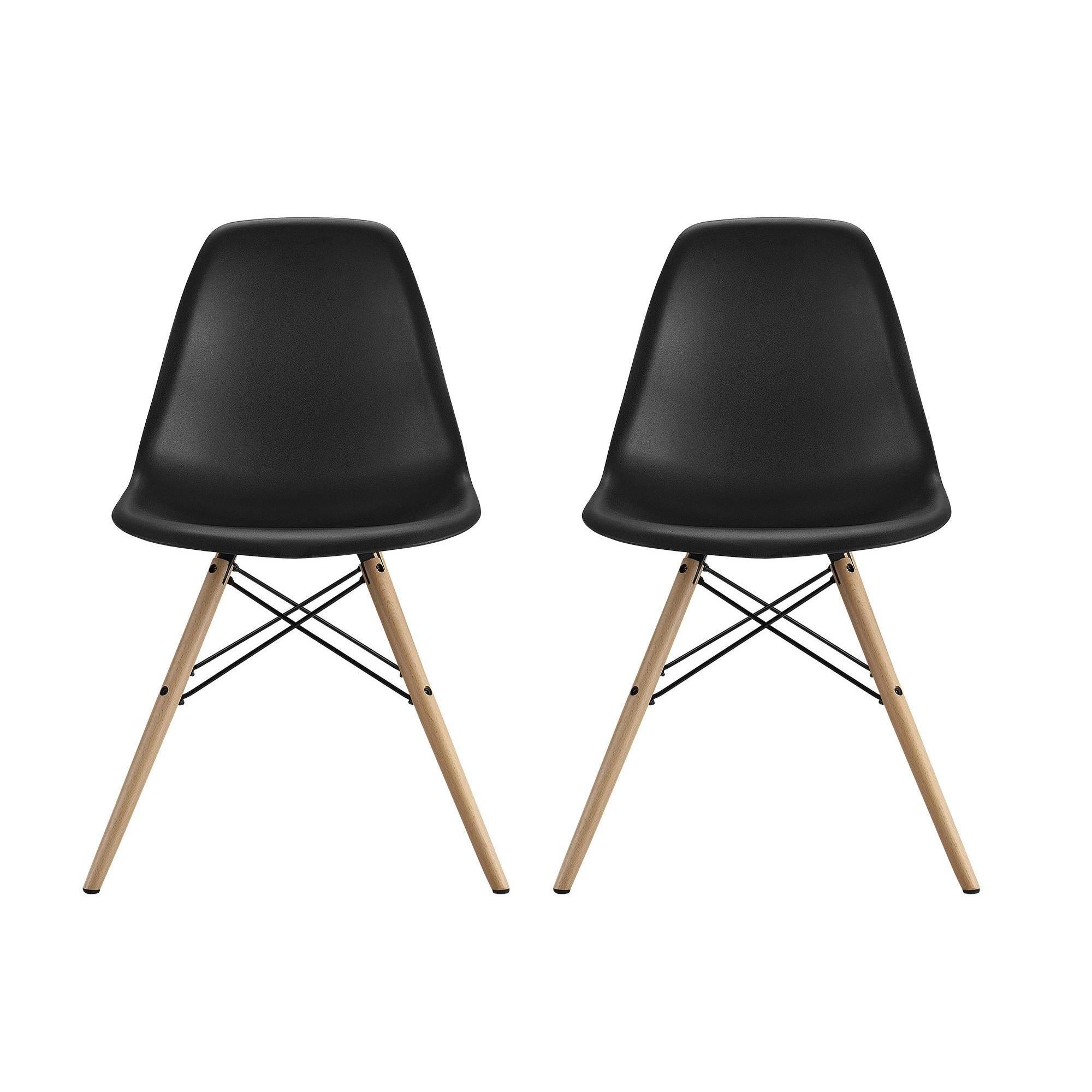 Iconic Modern Furniture The Replica Molded Chair With Wood Legs Are Modeled After Eames