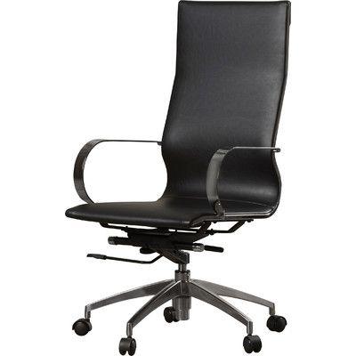 office chair upholstery. Wade Logan Stan High-Back Executive Chair Upholstery: Black Office Upholstery