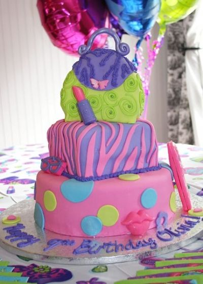 Glamour Girl 9th Birthday By heycake on CakeCentralcom Birthday