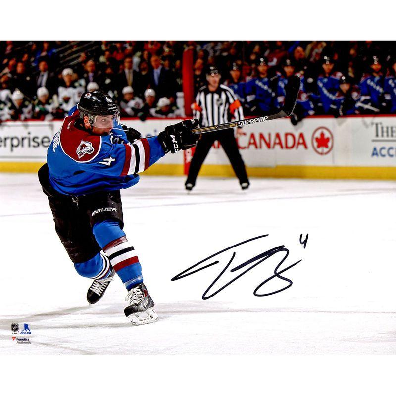 "Tyson Barrie Colorado Avalanche Fanatics Authentic Autographed 8"" x 10"" Horizontal Shooting Photograph"