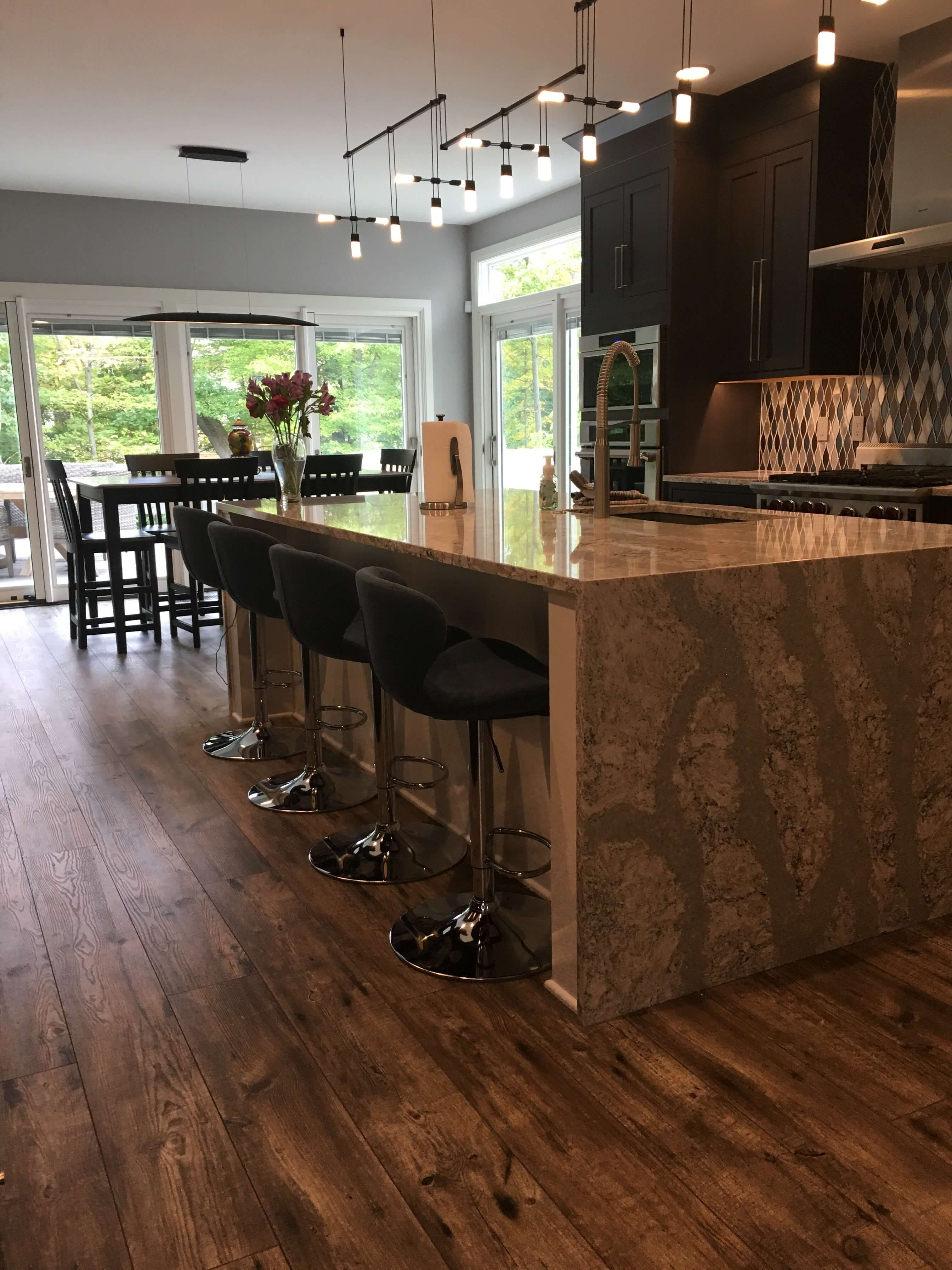 Remodeled kitchen and new luxury vinyl plank flooring all