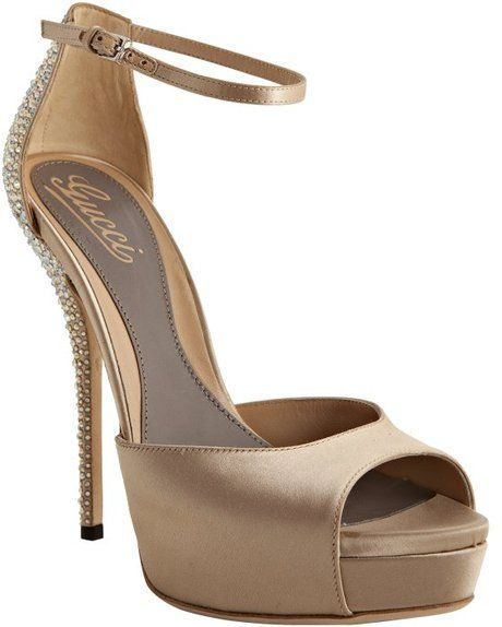 e193f8c6d8bb0 Taupe Satin Sofia Etoile Platform Ankle Strap Sandals - Lyst ...