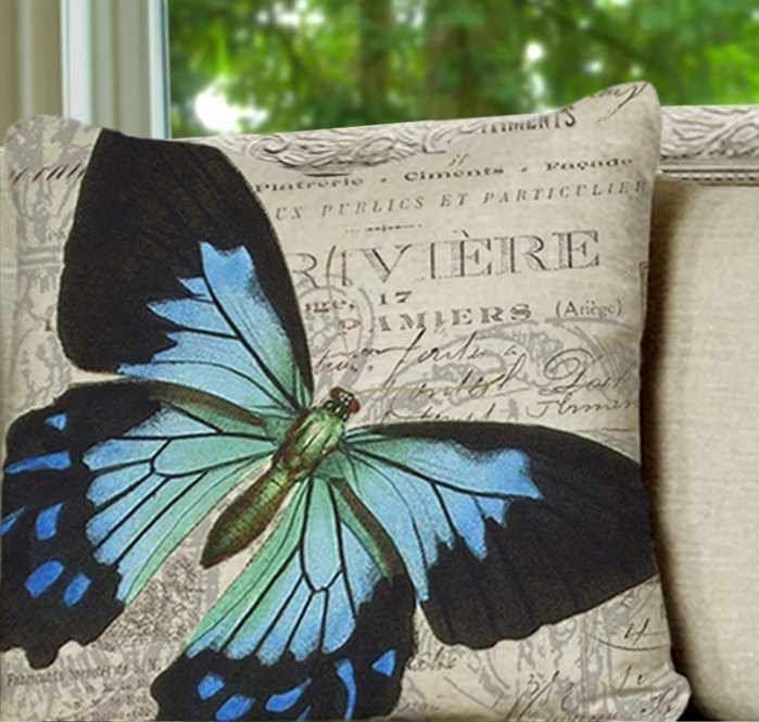 butterfly pillow:)