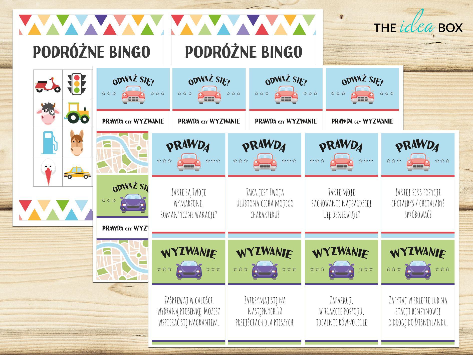 Zestaw Podrozne Bingo I Gra Prawda Czy Wyzwanie Pochodza Z Naszego Wpisu O Grach I Zabawach Do Auta Do Przeczytania Na Naszym Blogu Zapra Bingo Party Map