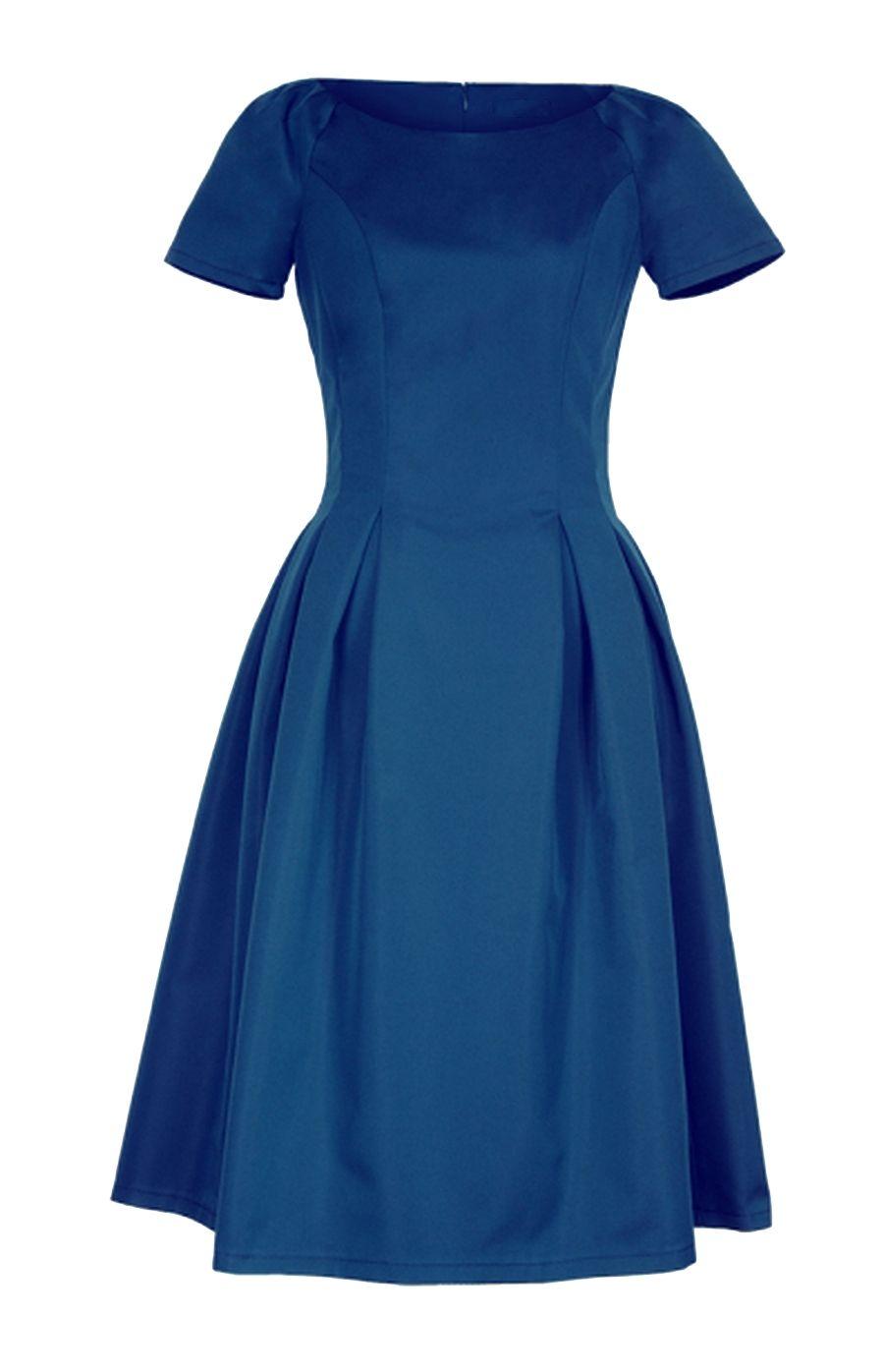 Craquez pour cette robe bleu roi très chic à jupe évasée parfaite pour une  cérémonie ou un cocktail. 6b29ce176324