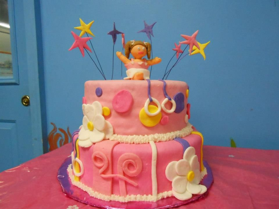 Gymnastic Theme Birthday Cake For Ryleys 3rd Party