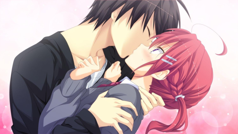 Картинки прикольные с аниме с поцелуями, красивые открытки