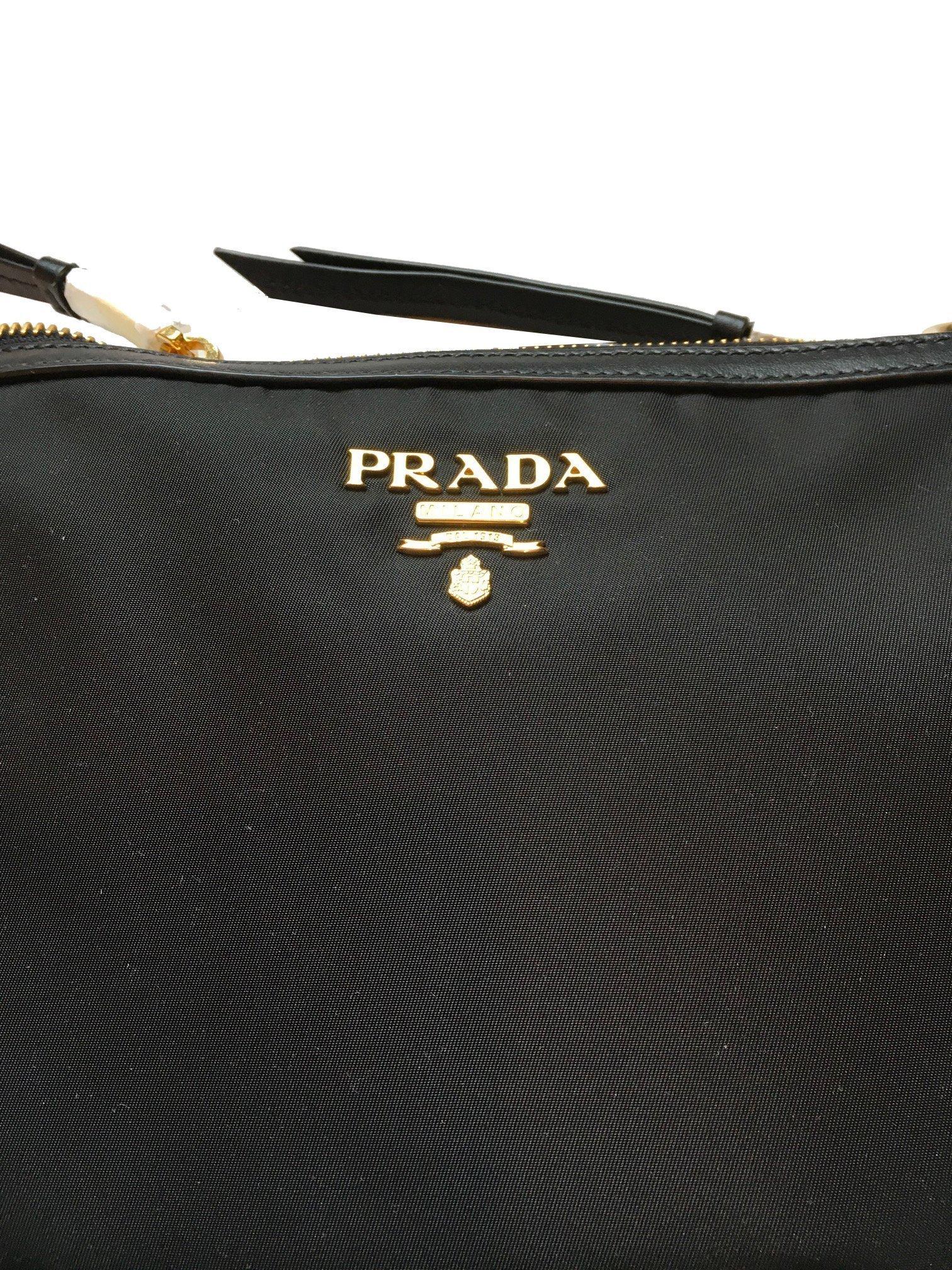 27fa52194eff Prada Women's Over The Shoulder Handbag 1bh046 Black Nylon Cross Body Bag