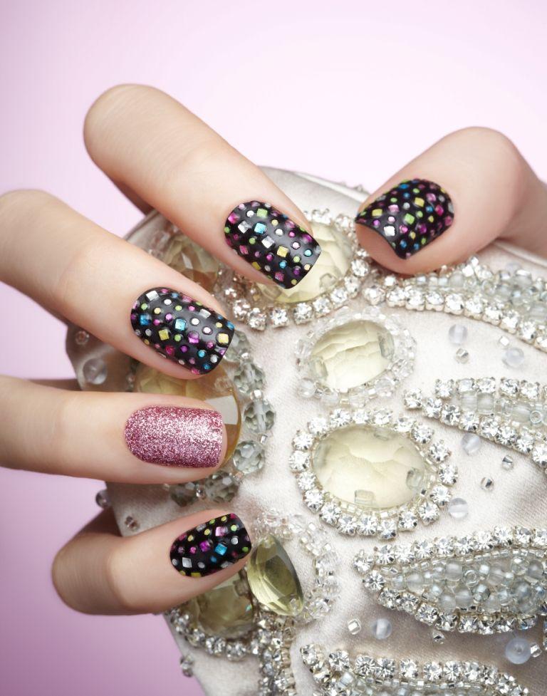 Jeweled nails made easy   Beauty   Pinterest   Jewel nails, Jewel ...