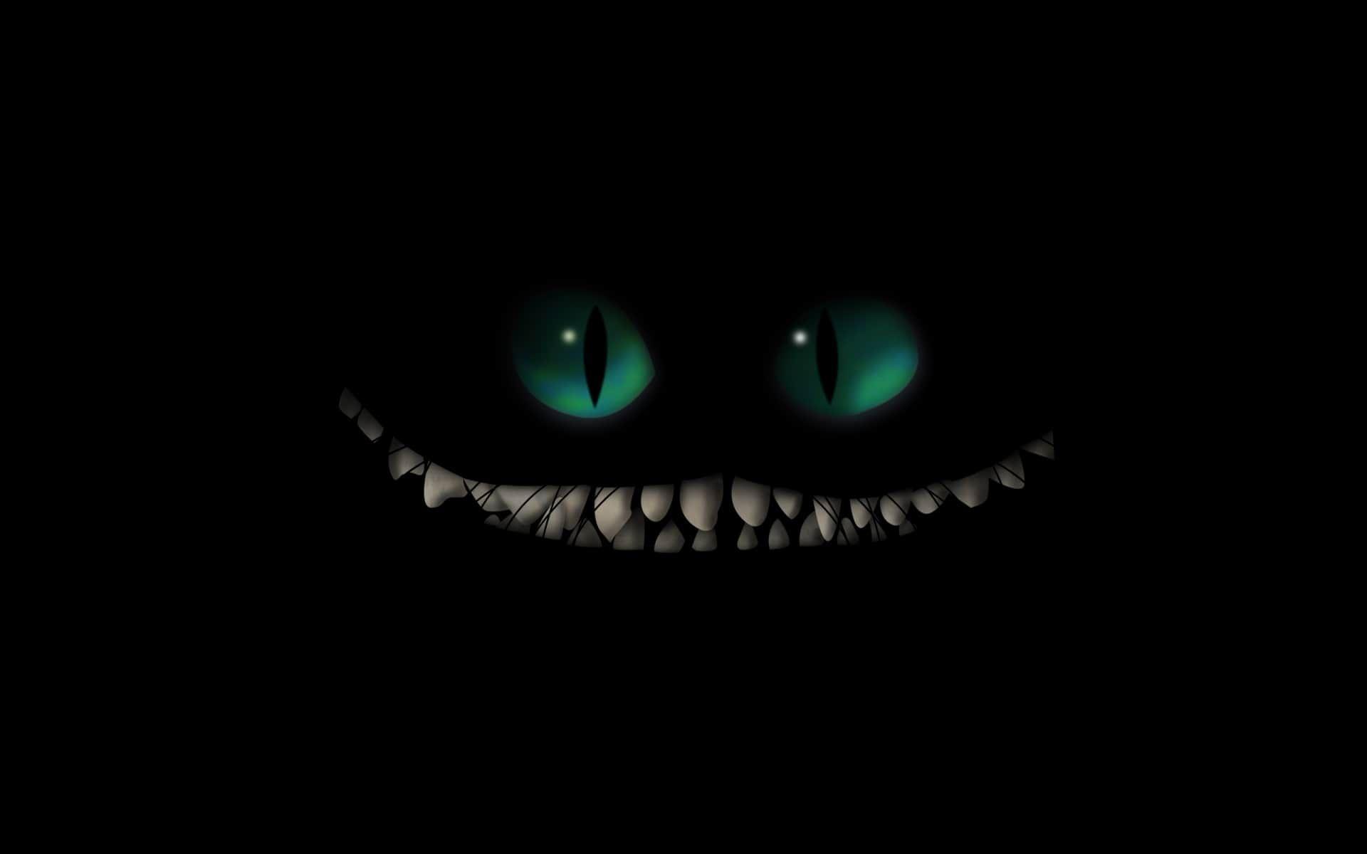 Desktophdwallpaper Org Cheshire Cat Wallpaper Scary Wallpaper Cheshire Cat Smile