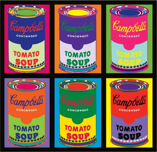 8 X 10 Campbell S Soup Can Pop Art Print 6up By Onegirlcreative