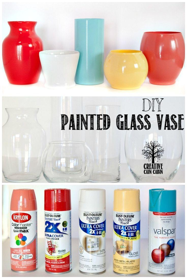 Diy Painted Glass Vase Creative Cain Cabin Diy Vase Painted