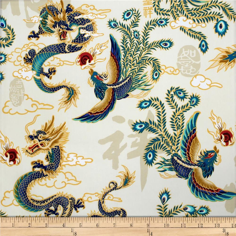 Trans Pacific Textiles Asian Legend Of The Dragon And Phoenix