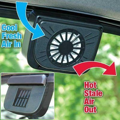 Solar Powered Car Auto Cool Air Vent Cooler Cooling Fan Solar
