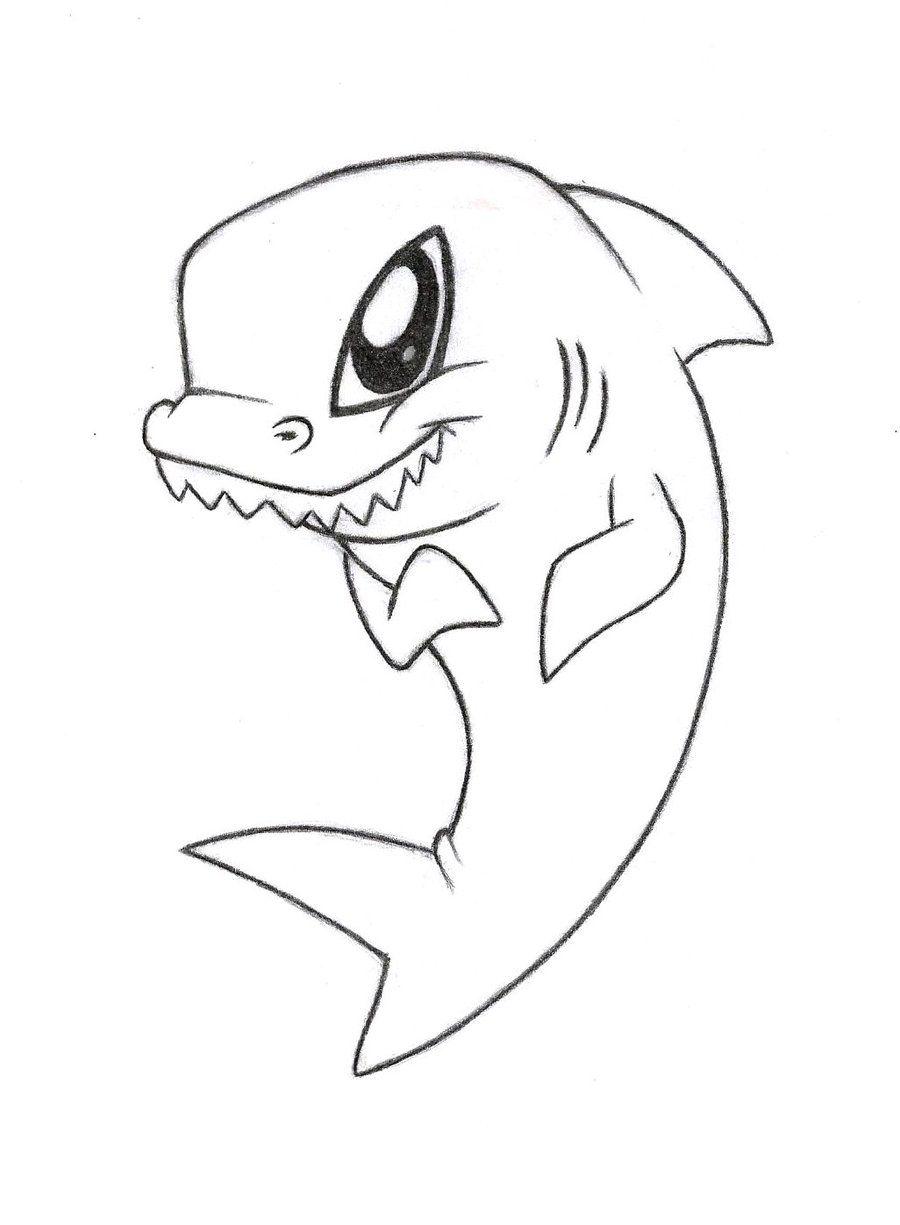 акулы рисунки легкие принимал участие
