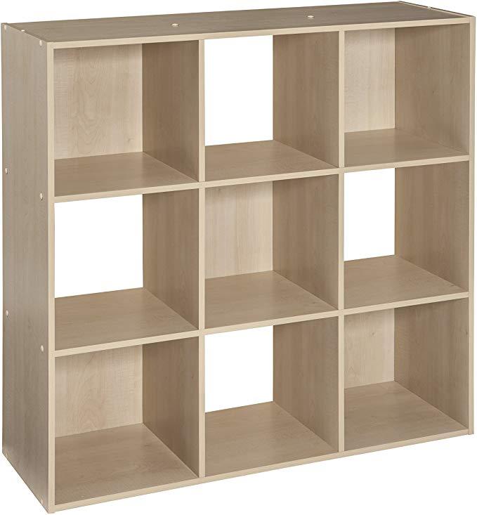 Amazon Com Closetmaid 4177 Cubeicals Organizer 9 Cube Birch Home Kitchen 54 In 2020 Cube Storage Cube Organizer Cube Shelves
