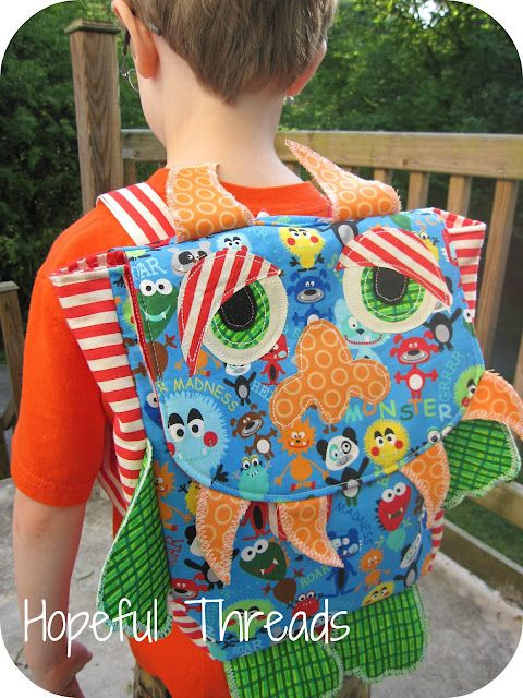 Hopeful Threads: Pattern Review - Monster Backpack from Muddy Max Designs (part of the Monster Mash pattern)