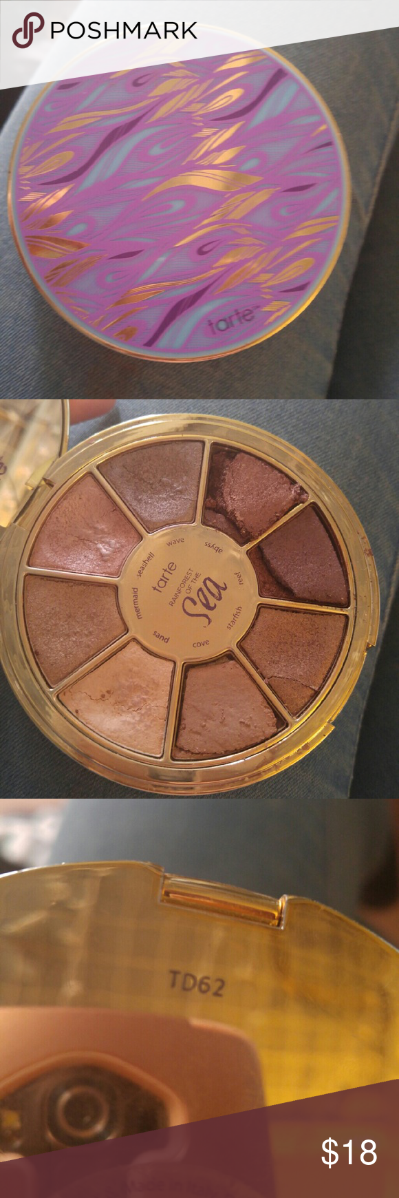 tarte Rainforest of the Sea Palette It dropped and some of the eyeshadow popped out but all the pieces are there and can easily be pressed in. Condition reflected in price and product will be carefully shipped tarte Makeup