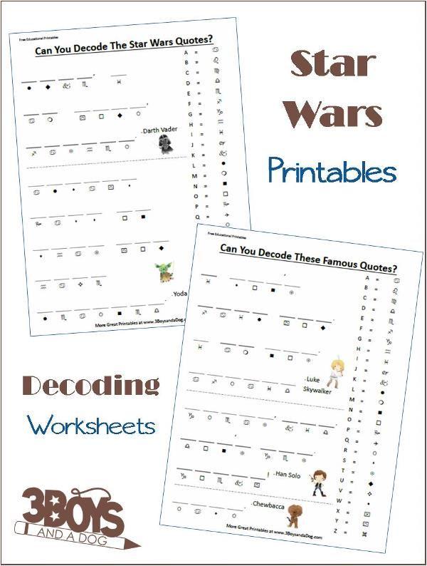 star wars decoding worksheets worksheets star and homeschool. Black Bedroom Furniture Sets. Home Design Ideas