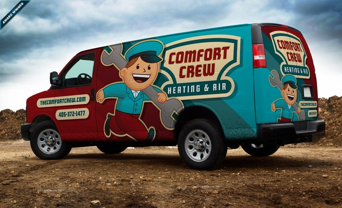 Comfort Crew Heating Air Graphic D Signs Car Wrap Car Wrap