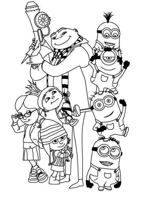 Despicable Me Minion Coloring Pages Family Coloring Pages Minions Coloring Pages