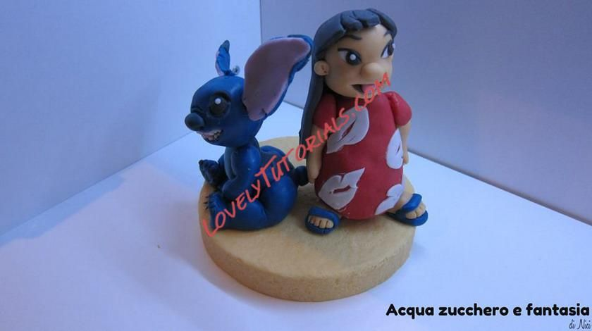 Gumpaste (fondant) Lilo and Stitch tutorials