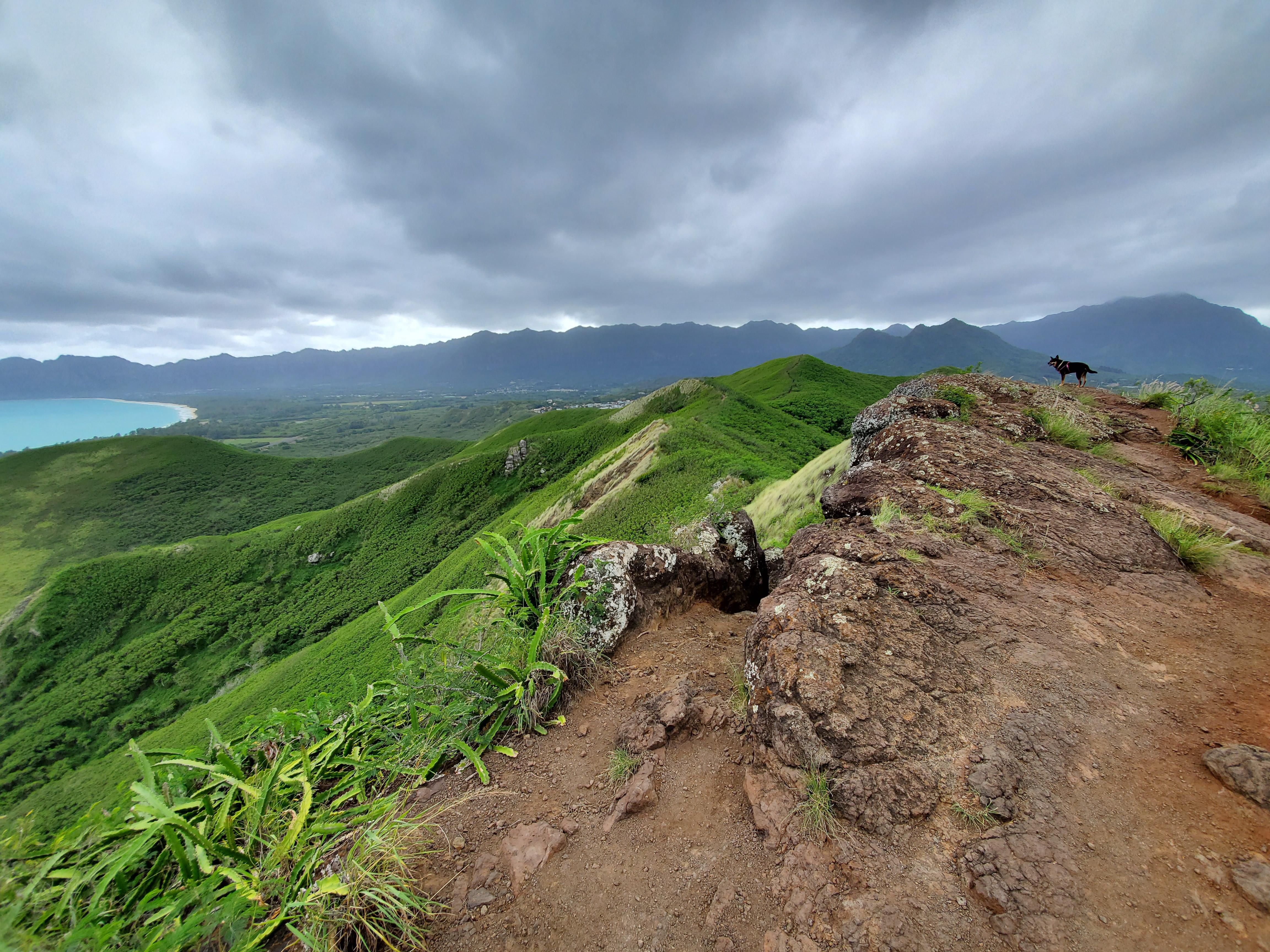 A cloudy day for hiking Lanikai pillbox trail Oahu Hawaii ...