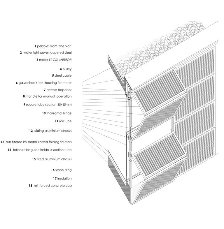 Hinged Shutters Facade Section Google Search 00