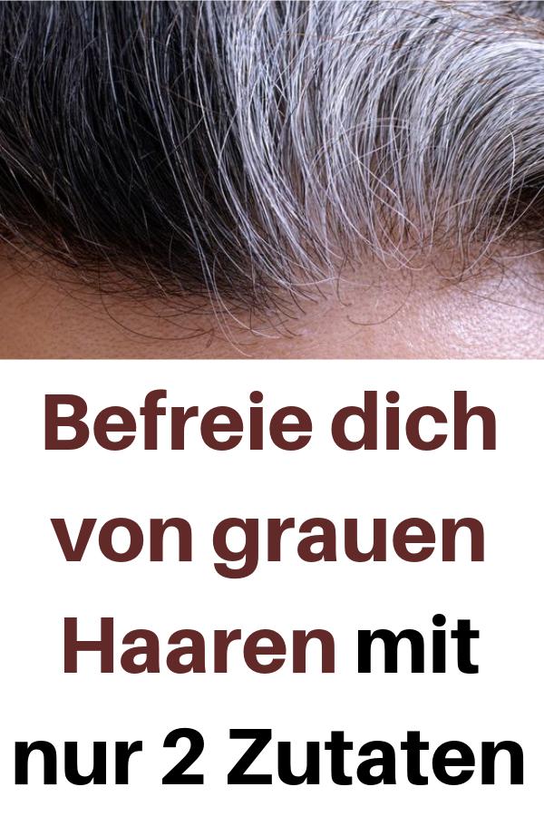 Befreie dich von grauen Haaren mit nur 2 Zutaten #haaren #hautpflege #tipps #trick #hairhealth