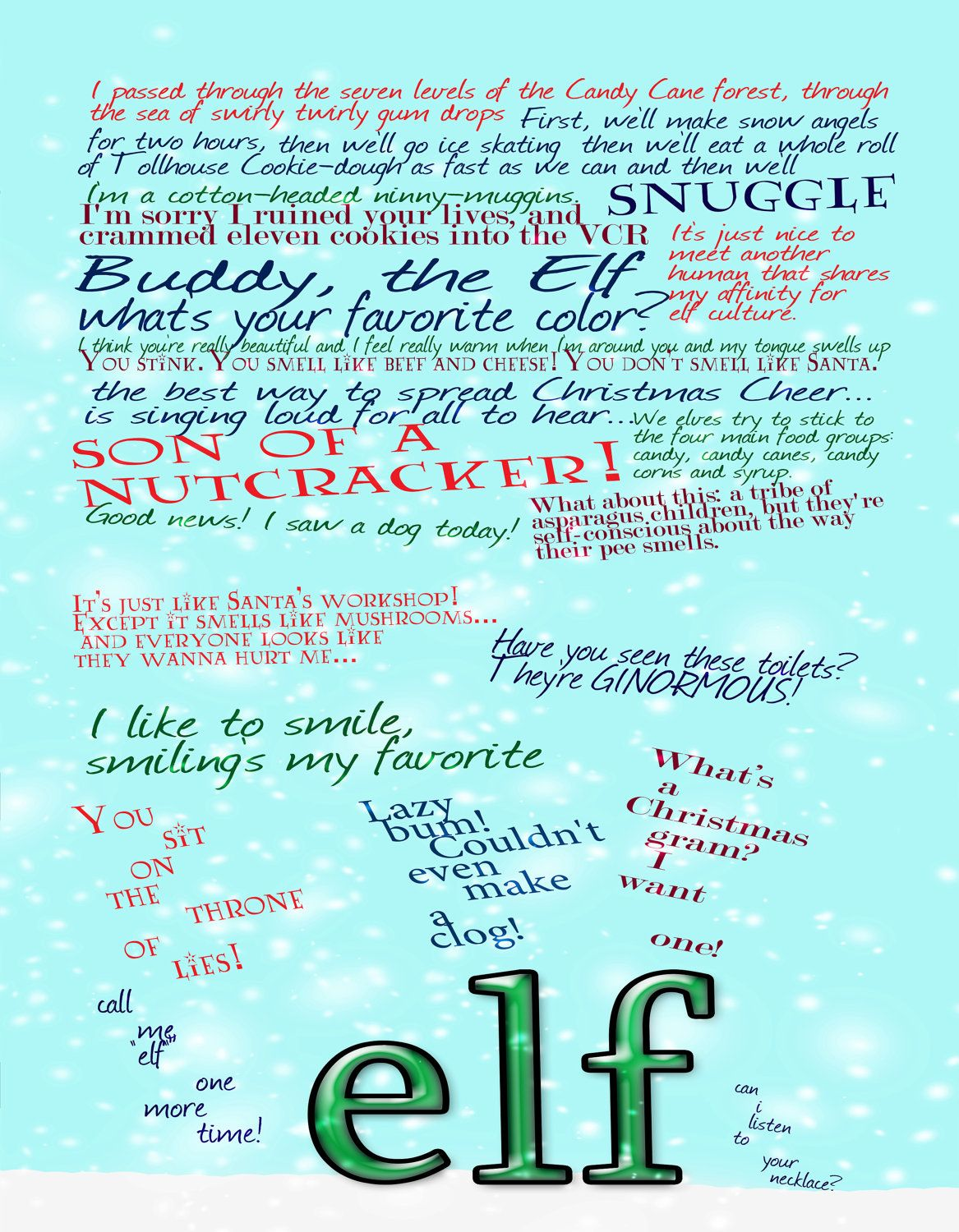 Elf Quotes Mesmerizing Quotes From Elf 3  Christmas  Pinterest  Elves Wonderful Time . Design Ideas
