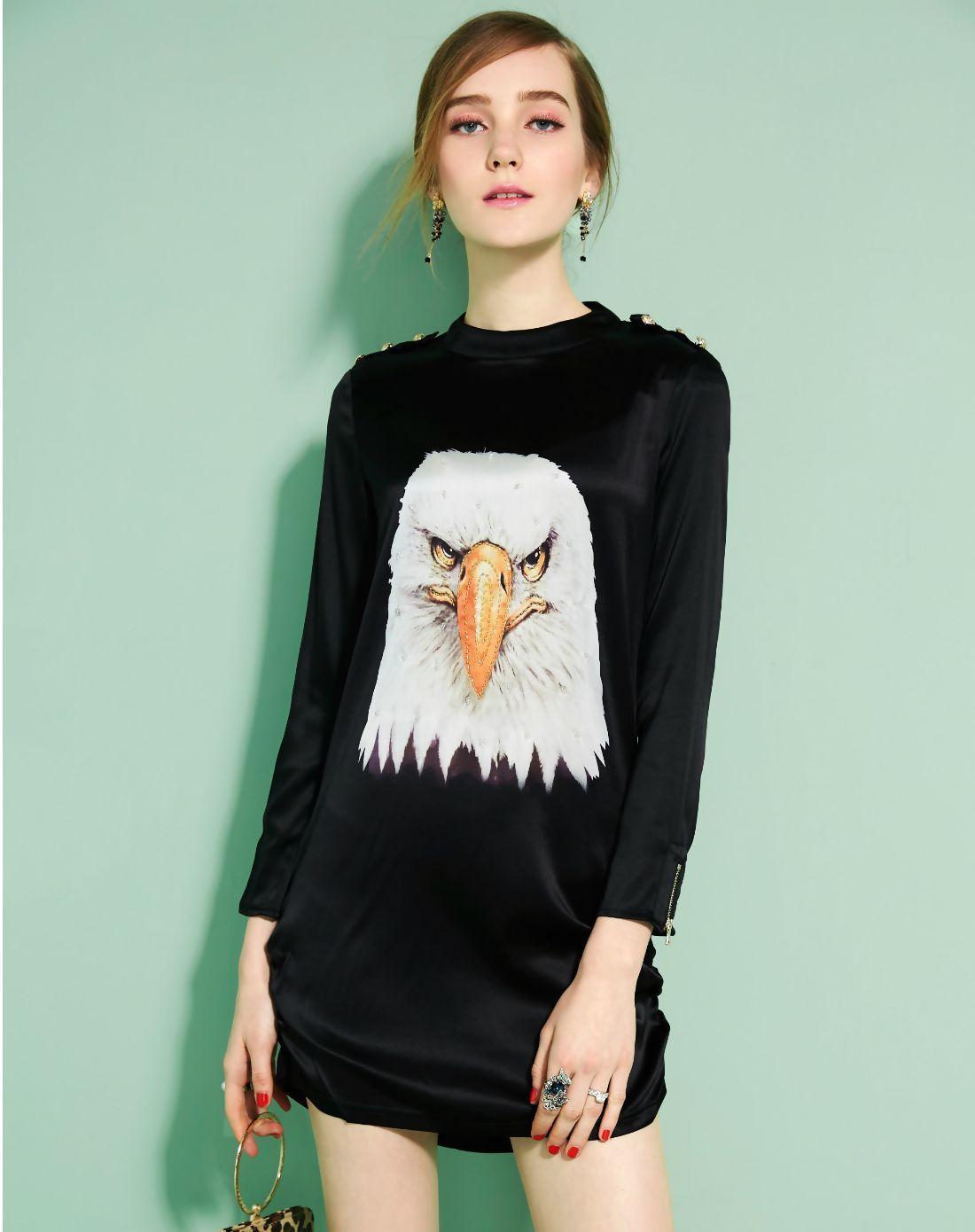 Adorewe vipme designer shift dresses designer afondi black animal
